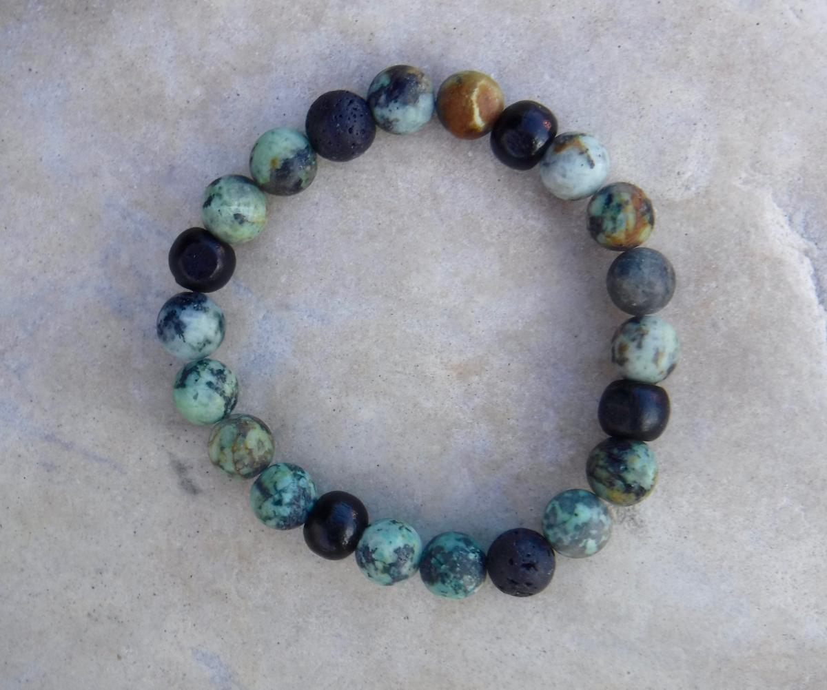 BE POSITIVE: Tri-blend African Turquoise