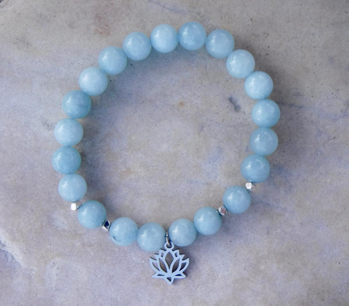 BE COURAGEOUS: Blue Jade and Lotus Charm