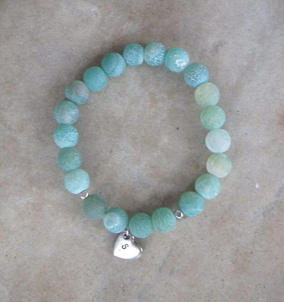 BE FREE: Effloresce Agate and Heart Charm