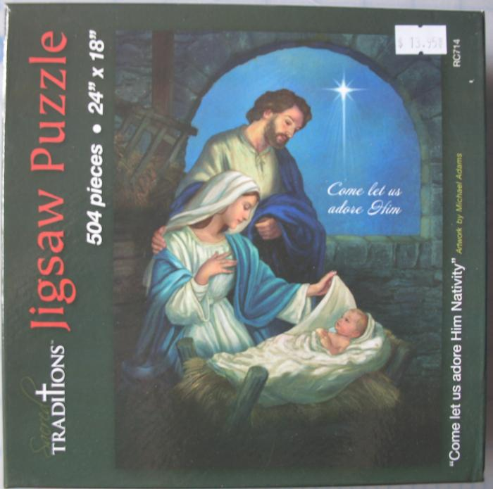 504 Piece Nativity Jigsaw Puzzle