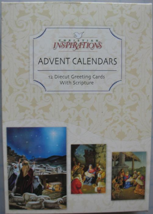12pk Advent Calendar Greeting Cards