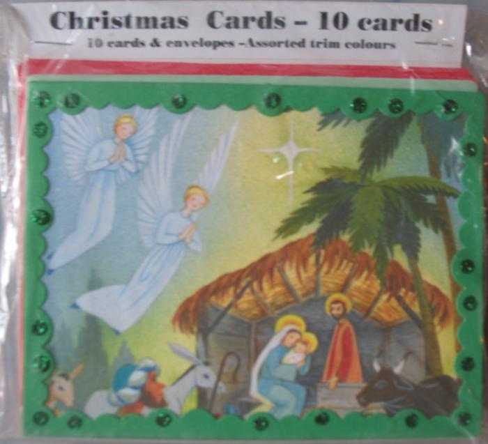 10pk Christmas Note Cards