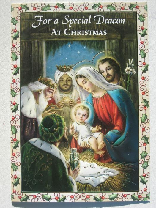 For a Special Deacon At Christmas Card