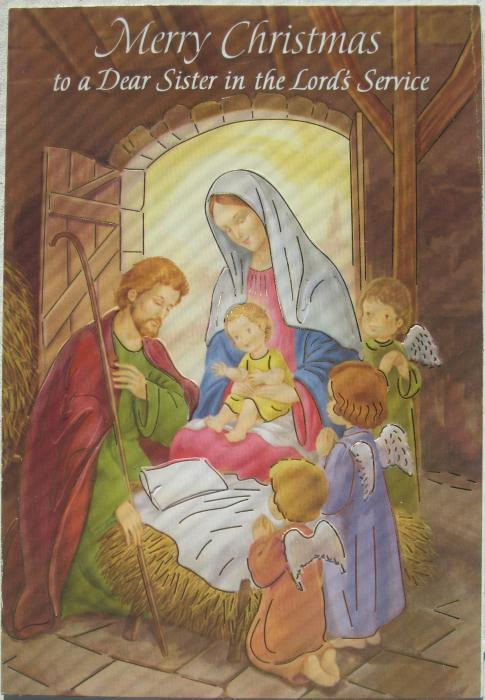 Dear Sister in the Lord's Service  Christmas Card