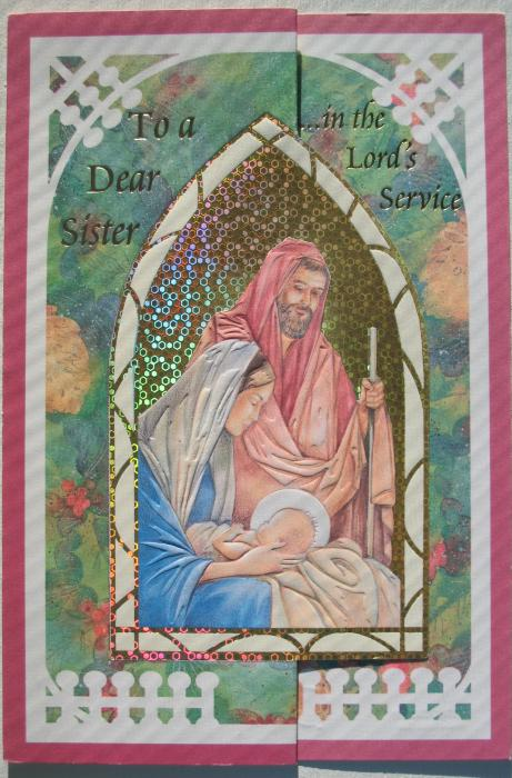 To a Dear Sister … in the Lord's Service Christmas Card