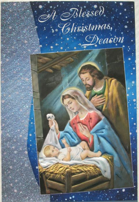 A Blessed Christmas, Deacon - Card