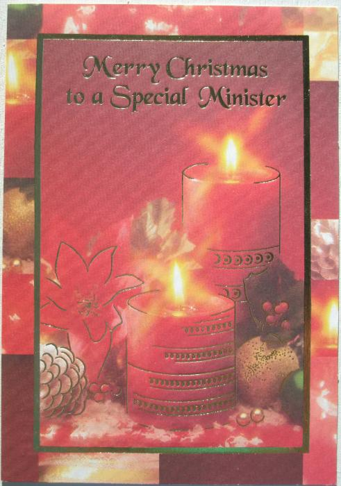 Merry Christmas to a Special Minister - Card