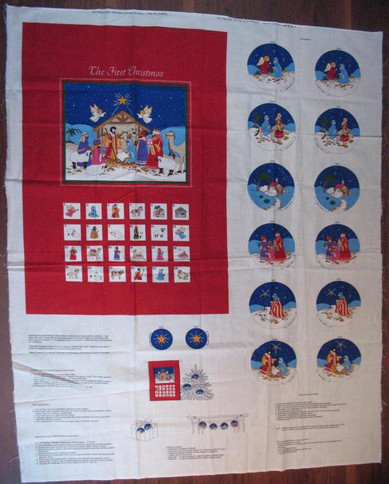 Fabric Advent Calendar with Ornaments - Make it Yourself
