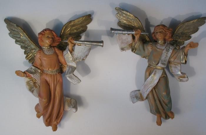 """Trumpeting Angels ( 2 Angels) - 5"""" Collection - Fontanini"""