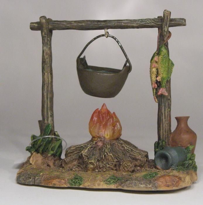 """Lighted Campfire  - 5"""" Collection - Fontanini"""