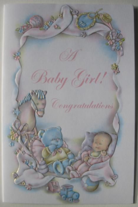 Baby Congratulations - Girl - Greeting Card