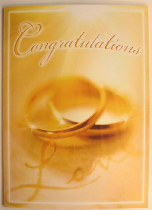 Congratulations Wedding Greeting Card
