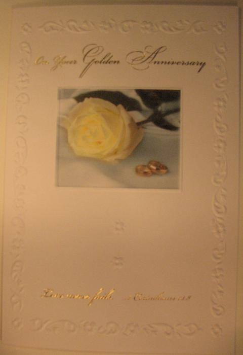 On Your Golden Anniversary Greeting Card
