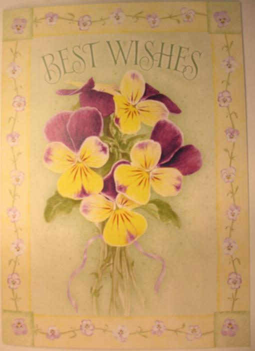 Best Wishes - Wedding Shower Greeting Card