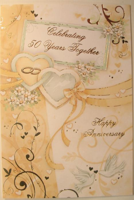Celebrating 50 Years Together Happy Anniversary Greeting Card
