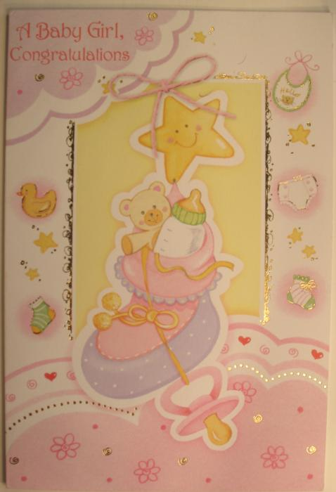 Baby Girl Congratulations Greeting Card