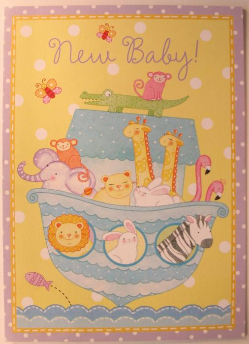 New Baby! -' Baby's Ark '- Greeting Card - Legacy