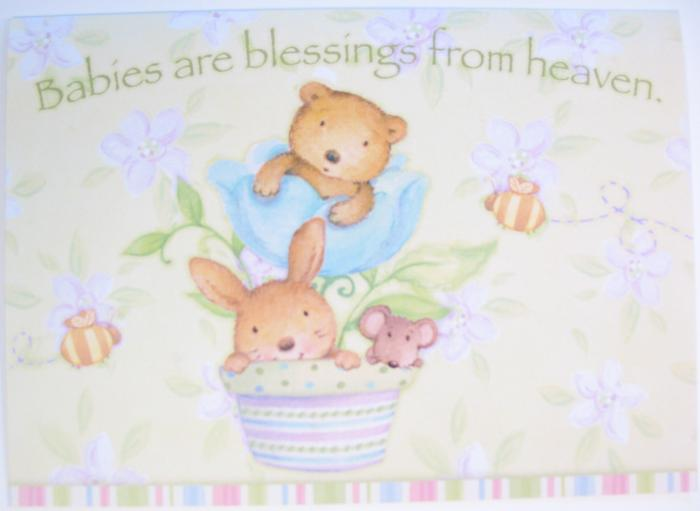 New Baby - 'Petal Babies' - Legacy Greeting Cards