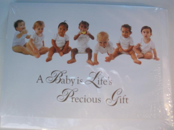 A Baby is Life's Precious Gift -package of 10 cards & envelopes - Blank Inside