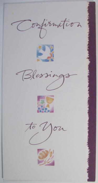 Confirmation Blessings to You Money Card