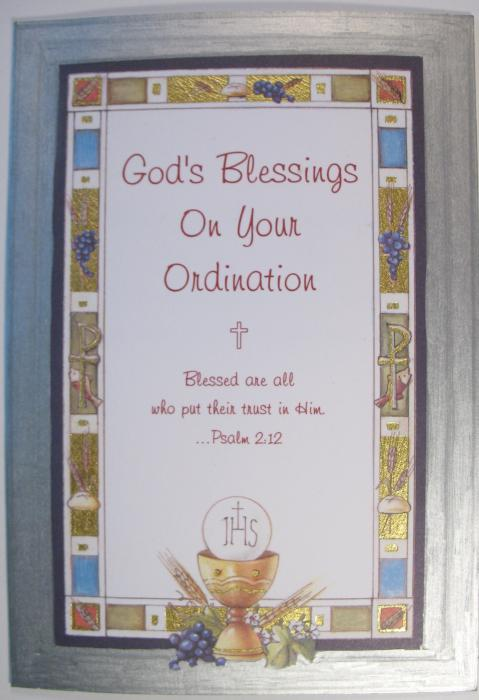 God's Blessings On Your Ordination Greeting Card