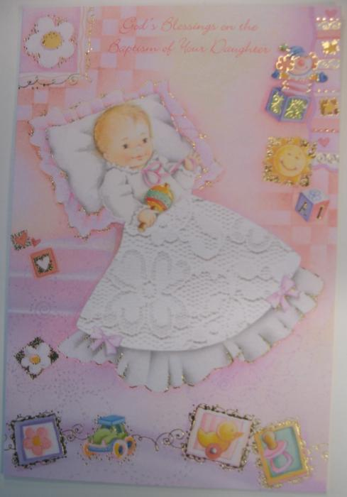 Baptism of Your Daughter Greeting Card