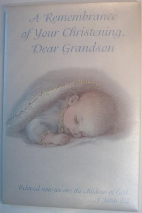 A Remembrance of Your Christening Dear Grandson Greeting Card