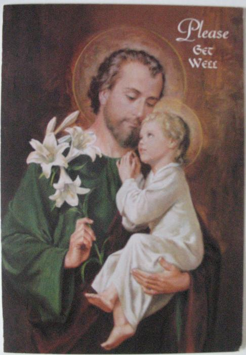Please Get Well - St. Joseph -Greeting Card