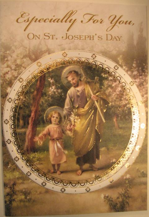 St. Joseph's Day Patron Saint Card