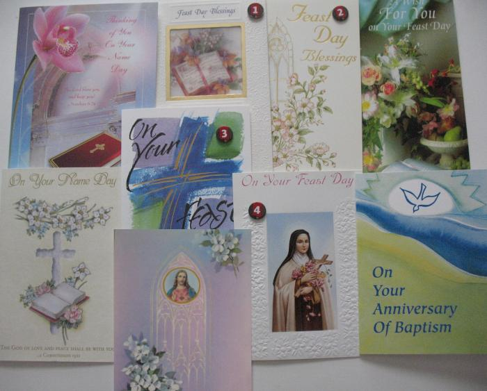 Feast / Name Day / Baptism Anniversary - Greeting Cards