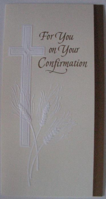 For You on Your Confirmation Money Card