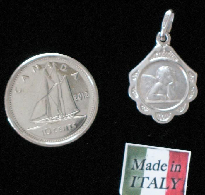 Angel (Fancy ) Sterling Silver Medal - medium