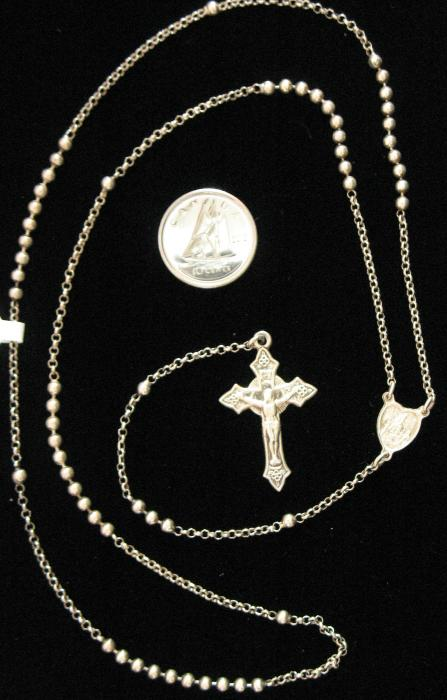 Sterling Silver Rosary Tiny Beads