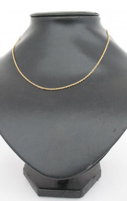 """Gold Plated Rope Chain 16"""""""