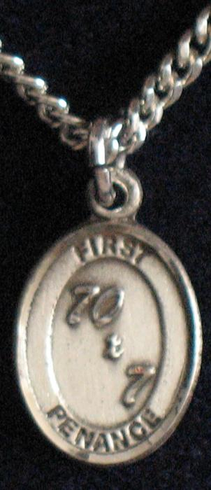First Penance ( Reconciliation) Sterling Silver Medal - Sm. Oval
