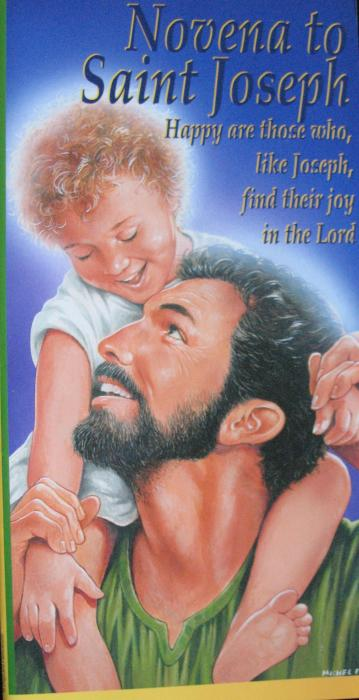Novena to Saint Joseph Pamphlet- Laminated Series  -  Also Other Available Novenas