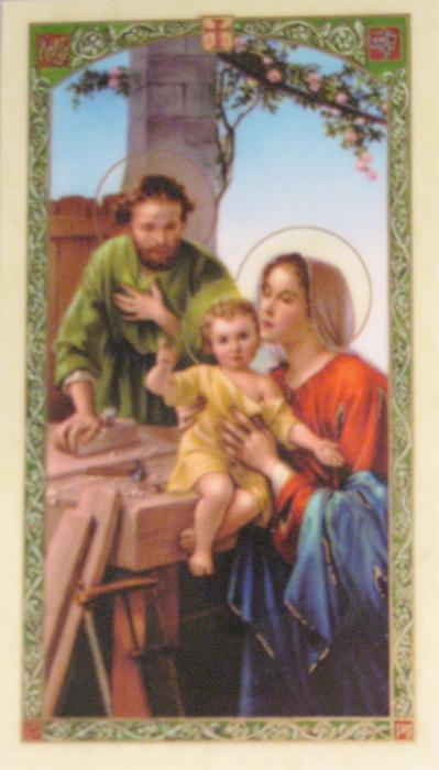 Holy Family Laminated Prayercard -  Ten Rules for a Happy & Successful Husband