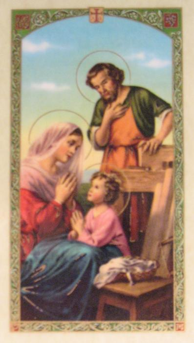 Holy Family Laminated Prayercard - Ten Rules for a Happy & Successful Wife