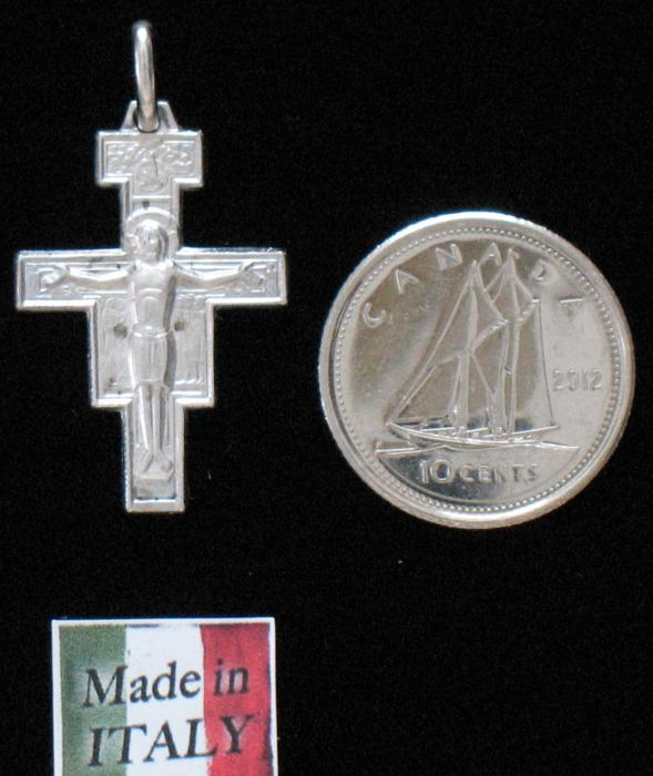 San Damiano Crucifix Sterling Silver - Med.