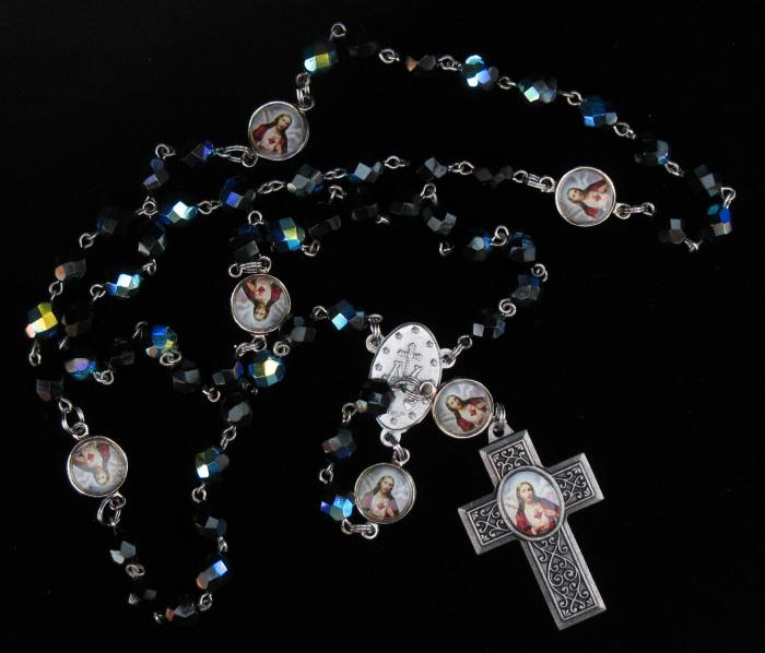 Black Rosary With Rosary Pamphlet