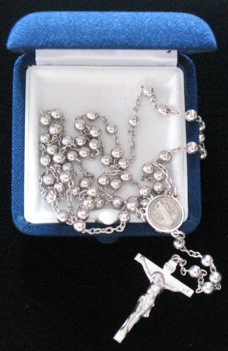 Sterling Silver Rosary - St. Benedict Center