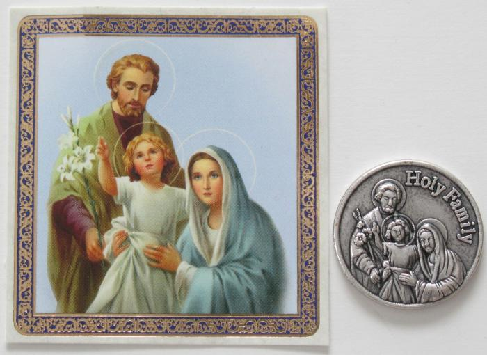 Holy Family - Pocket Token with prayercard in vinyl pouch