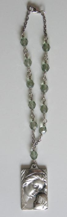 Car Rosary - Czech Glass beads - Wire-wrapped