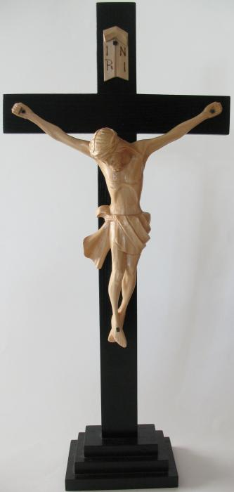 Large Standing Crucifix  - Wood  - Hand Crafted