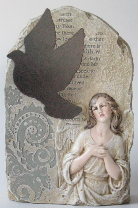 Angel and Dove Stone