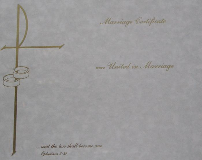 Marriage Certificate - Box of 32