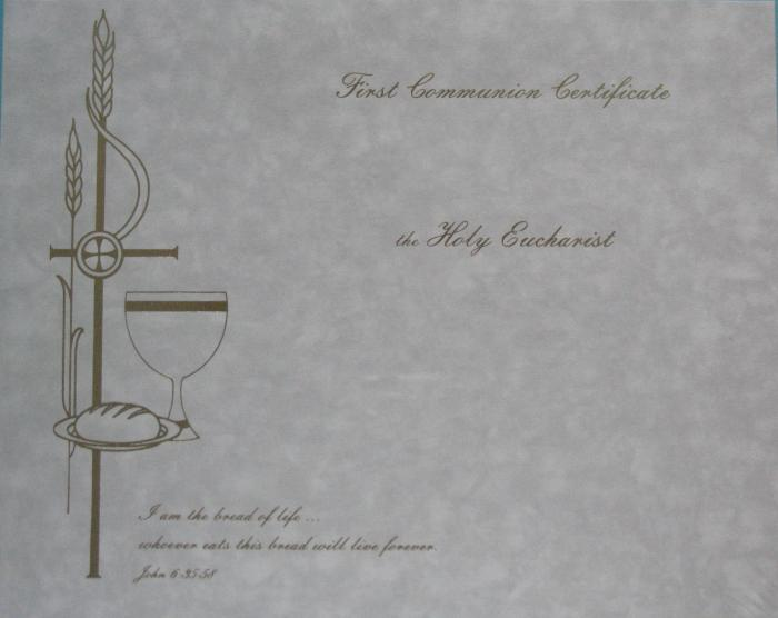 First Communion Certificates - box of 50