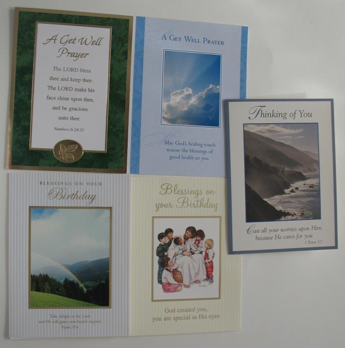 Greeting Cards - Birthday, Get Well, Thinking of You - box of 25