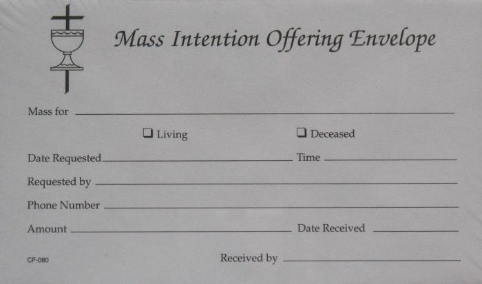 Mass Intention Offering Envelope - Box of 195