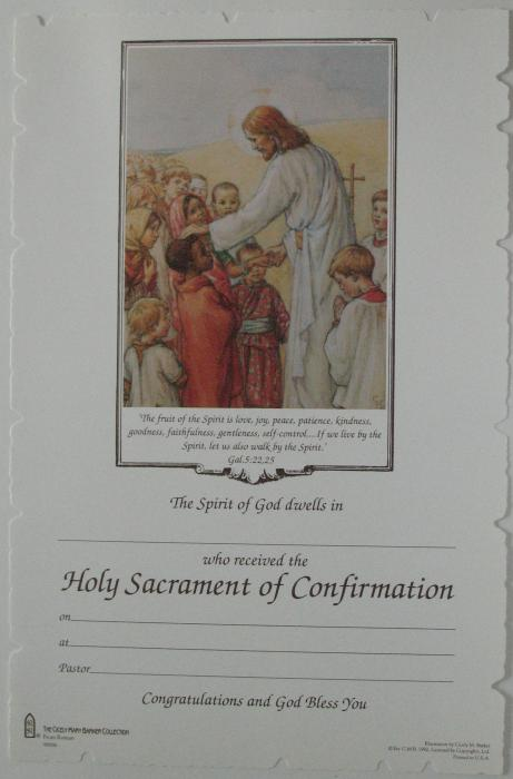 Confirmation Certificate - Package of 22